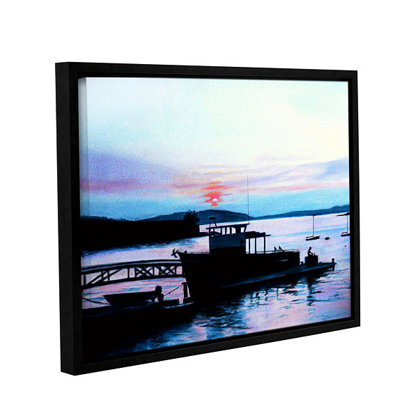 Brushstone Maine Fishing Boat Gallery Wrapped Floater-Framed Canvas Wall Art