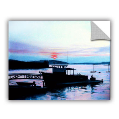 Brushstone Maine Fishing Boat Removable Wall Decal
