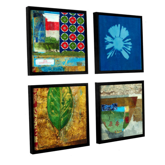 Brushstone May You Grow Rich 4-pc. Square Floater Framed Canvas Wall Art