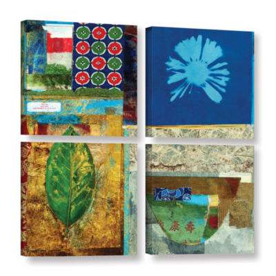 Brushstone May You Grow Rich 4-pc. Square Gallery Wrapped Canvas Wall Art
