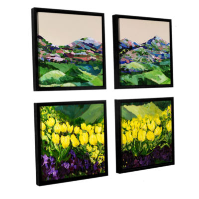 Brushstone Majestic Parade 4-pc. Square Floater Framed Canvas Wall Art