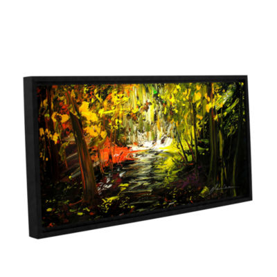 Brushstone Lone Trail Gallery Wrapped Floater-Framed Canvas Wall Art