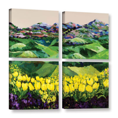 Brushstone Majestic Parade 4-pc. Square Gallery Wrapped Canvas Wall Art