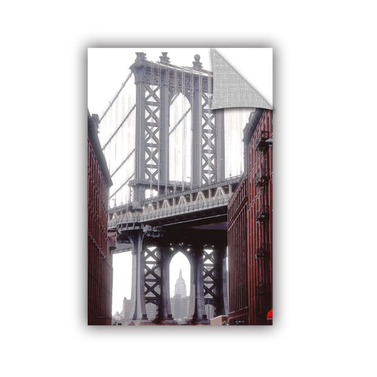 Brushstone Manhattan Bridge With Empire RemovableWall Decal