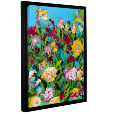 Brushstone Majorelle Garden Gallery Wrapped Floater-Framed Canvas Wall Art