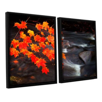 Brushstone Maple Leaves 2-pc. Floater Framed Canvas Wall Art