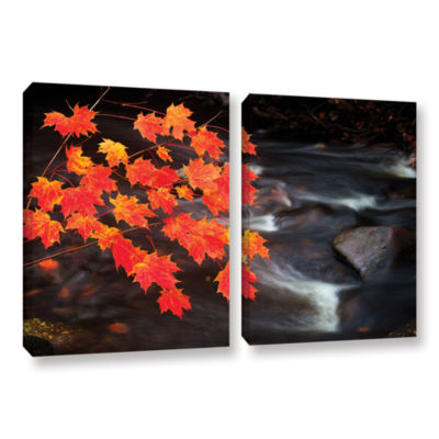 Brushstone Maple Leaves 2-pc. Gallery Wrapped Canvas Wall Art