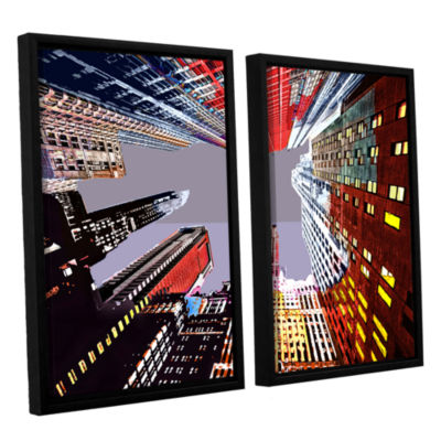 Brushstone Look Up 2-pc. Floater Framed Canvas Wall Art