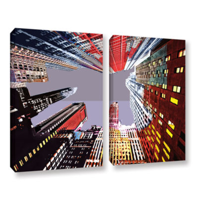 Brushstone Look Up 2-pc. Gallery Wrapped Canvas Wall Art