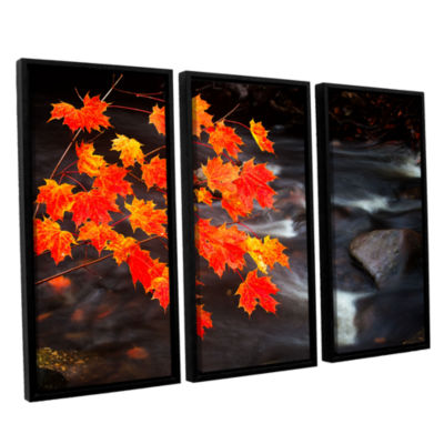 Brushstone Maple Leaves 3-pc. Floater Framed Canvas Wall Art
