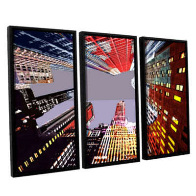 Brushstone Look Up 3-pc. Floater Framed Canvas Wall Art
