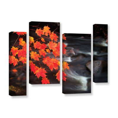 Brushstone Maple Leaves 4-pc. Gallery Wrapped Staggered Canvas Wall Art