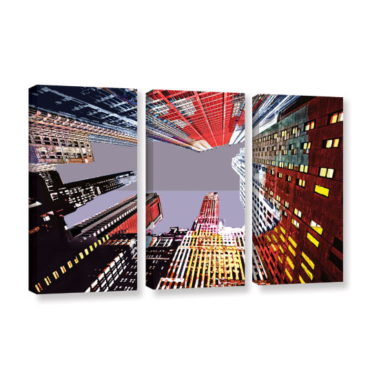 Brushstone Look Up 3-pc. Gallery Wrapped Canvas Wall Art