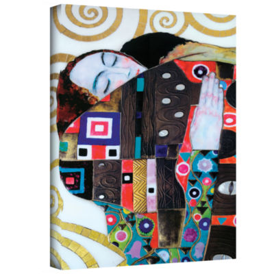 Brushstone Malcesina At Gardasee Gallery Wrapped Canvas Wall Art