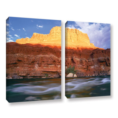 Brushstone Marble Canyon Sunset 2-pc. Gallery Wrapped Canvas Wall Art