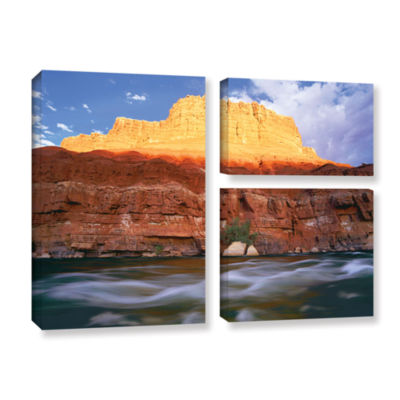 Brushstone Marble Canyon Sunset 3-pc. Flag GalleryWrapped Canvas Wall Art
