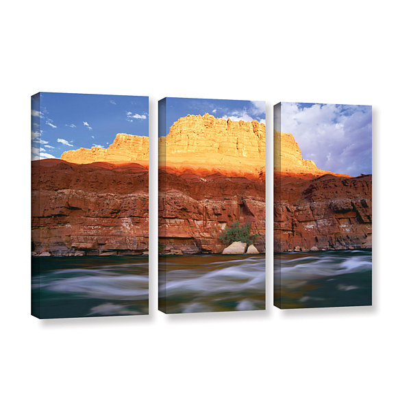 Brushstone Marble Canyon Sunset 3-pc. Gallery Wrapped Canvas Wall Art