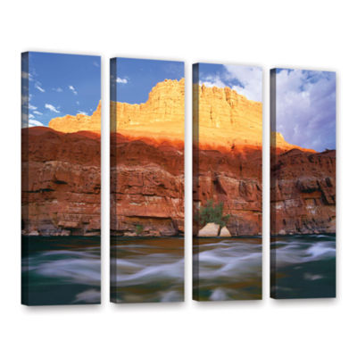 Brushstone Marble Canyon Sunset 4-pc. Gallery Wrapped Canvas Wall Art