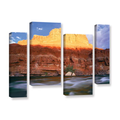 Brushstone Marble Canyon Sunset 4-pc. Gallery Wrapped Staggered Canvas Wall Art