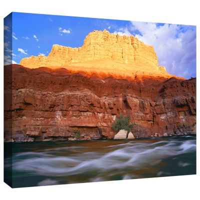 Brushstone Marble Canyon Sunset Gallery Wrapped Canvas Wall Art