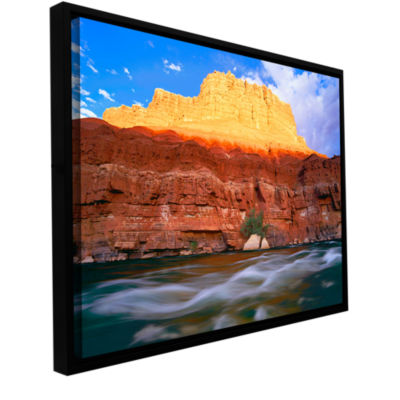 Brushstone Marble Canyon Sunset Gallery Wrapped Floater-Framed Canvas Wall Art