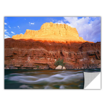 Brushstone Marble Canyon Sunset Removable Wall Decal