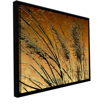 Brushstone March Grass Gallery Wrapped Floater-Framed Canvas Wall Art