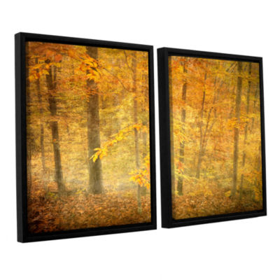 Brushstone Lost In Autumn 2-pc. Floater Framed Canvas Wall Art