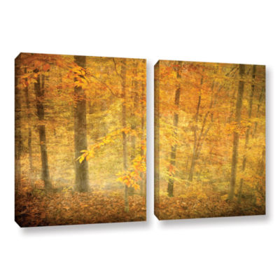 Brushstone Lost In Autumn 2-pc. Gallery Wrapped Canvas Wall Art