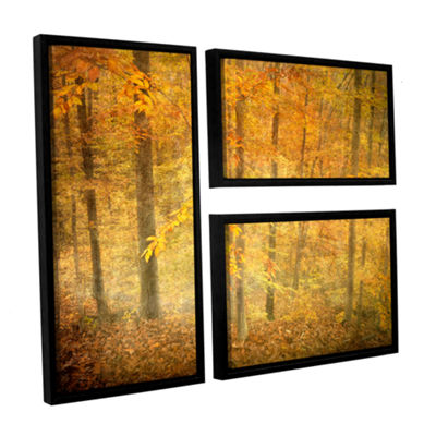 Brushstone Lost In Autumn 3-pc. Flag Floater Framed Canvas Wall Art