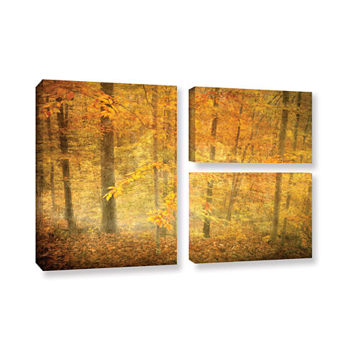 Brushstone Lost In Autumn 3-pc. Flag Gallery Wrapped Canvas Wall Art