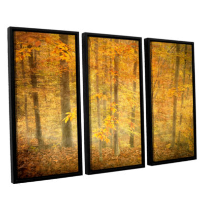 Brushstone Lost In Autumn 3-pc. Floater Framed Canvas Wall Art