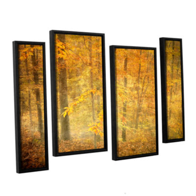 Brushstone Lost In Autumn 4-pc. Floater Framed Staggered Canvas Wall Art