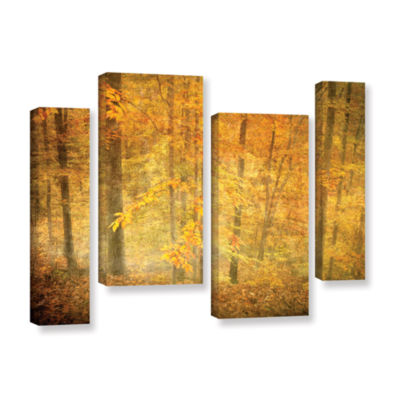 Brushstone Lost In Autumn 4-pc. Gallery Wrapped Staggered Canvas Wall Art