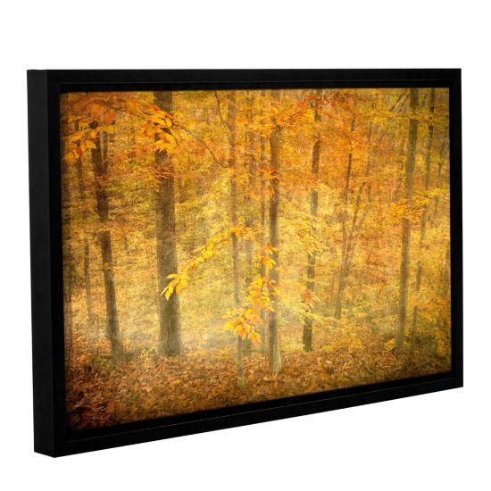 Brushstone Lost In Autumn Gallery Wrapped Floater-Framed Canvas Wall Art