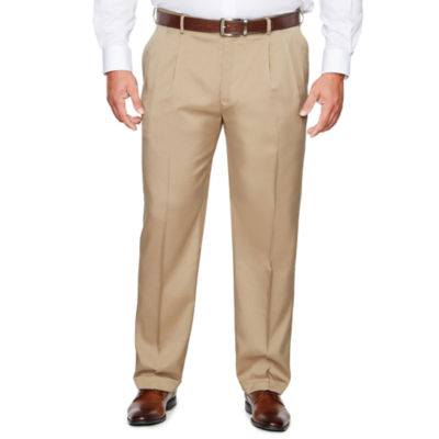Savane Straight Fit Pleated Pants Big and Tall