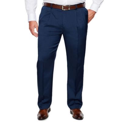 Savane Straight Fit Pleated Pants Big and Tall