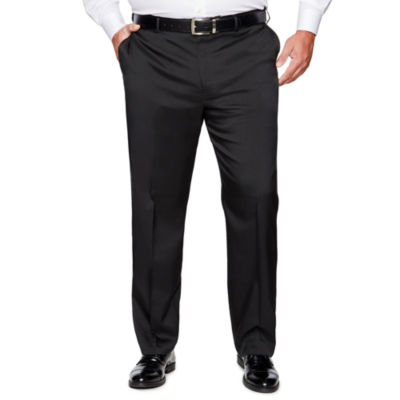Savane Straight Fit Flat Front Pants-Big and Tall