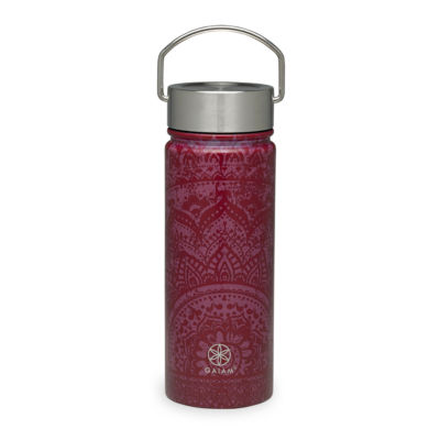 Gaiam Jubilee Stainless Steel Wide Mouth Water Bottle (18 oz)