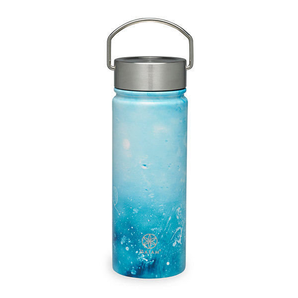 Gaiam Raindrop Stainless Steel Wide Mouth Water Bottle (18 oz)