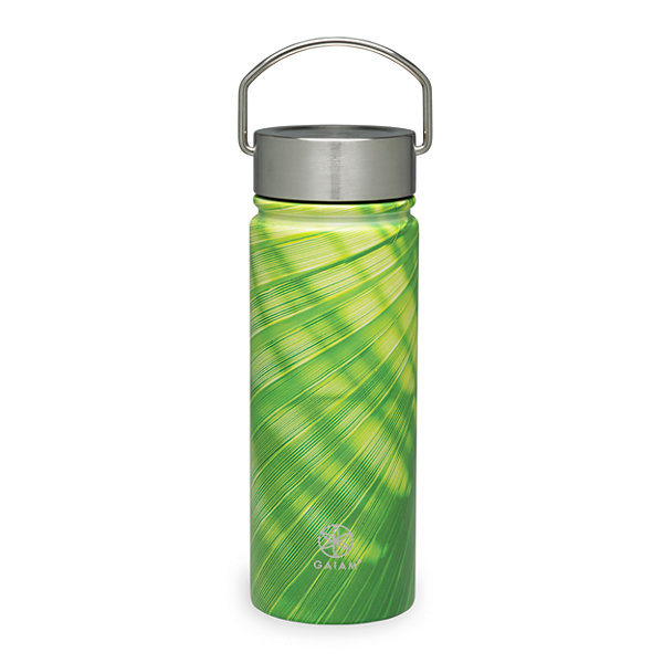 Gaiam Bamboo Stainless Steel Wide Mouth Water Bottle (18 oz)