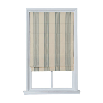 JCPenney Home™ Striped Flat Cordless Roman Shade