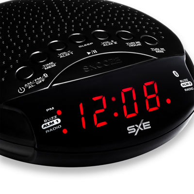 SXE Bluetooth Clock Radio with Alarm