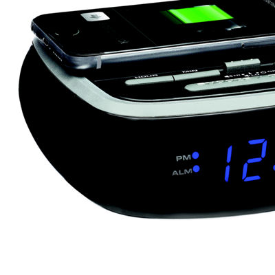 SXE LED Alarm Clock with Wireless Charging