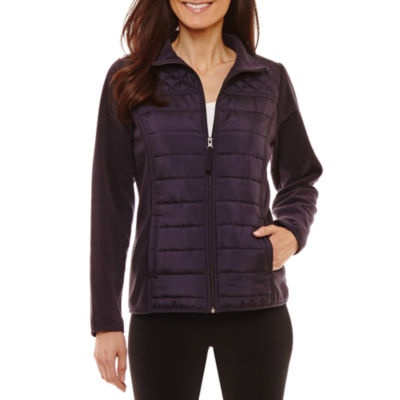 St. John's Bay Active Midweight Fleece Jacket-Petites