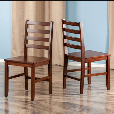Winsome Hamilton Ladder Back Chair - Set of 2