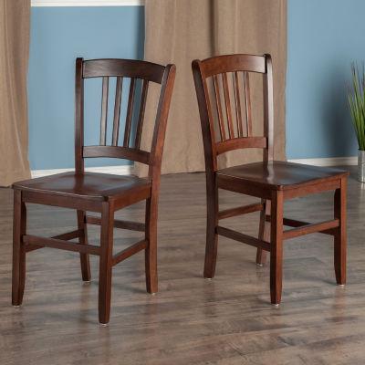 Winsome Madison Slat Back Chair - Set of 2