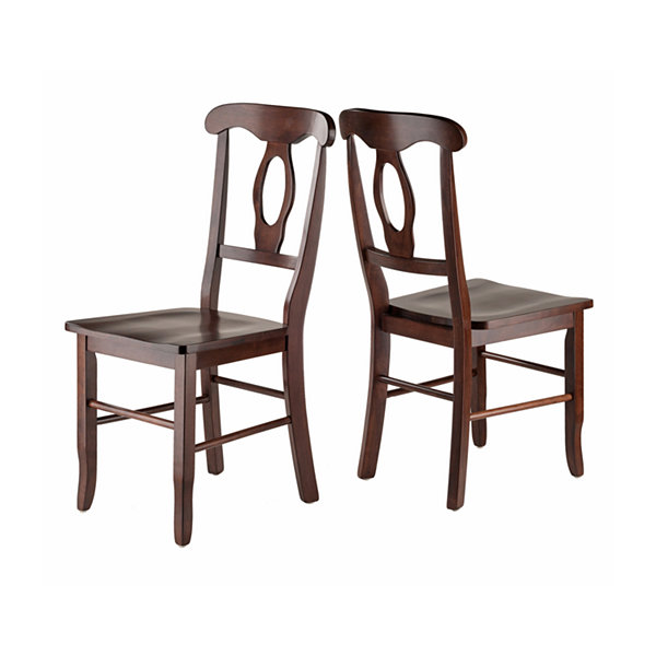Winsome Renaissance Key Hole Back Chair - Set of 2