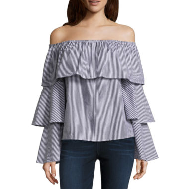 T.D.C Off The Shoulder Ruffle Top