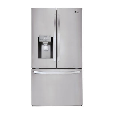 LG 28 cu.ft. Smart Wi-Fi Enabled 3-Door French Door Refrigerator
